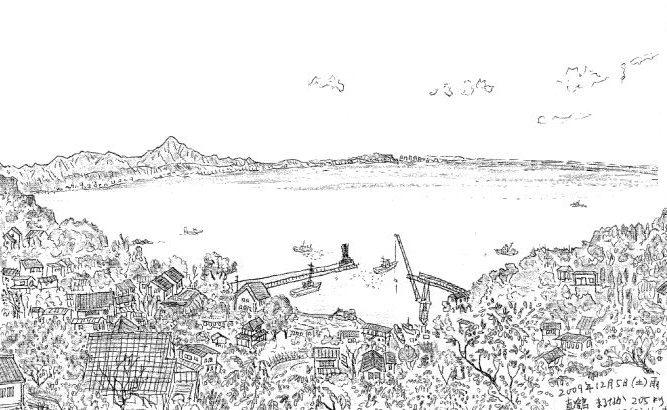 【ラクガキ旅日記1】真鶴半島には日本の自然の縮図がある