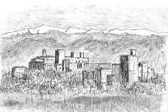 【ラクガキ旅日記2】独立自尊のバルセロナ~グラナダ・アルハンブラ宮殿