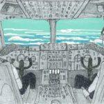 飛行中にお邪魔したジャンボジェットの操縦室の話