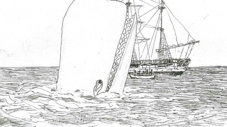 ハーマン・メルヴィル『白鯨』に登場する捕鯨船とクジラの頭突きについて